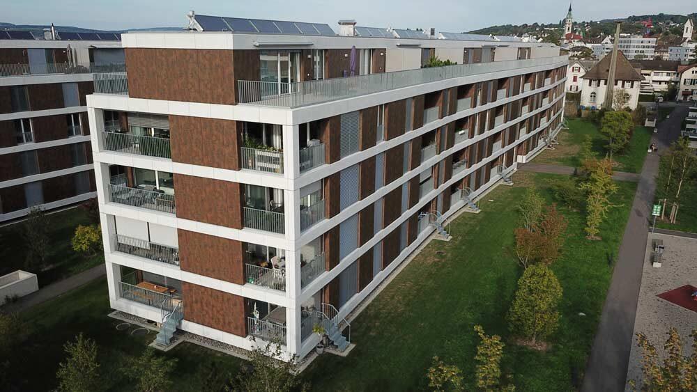 Baukla Holding AG St. Gallen | Vorgehängte, hinterlüftete Fassaden mit FunderMax Platten, Schmuckli Architekten AG, Wil SG, 2017 Fassadentechnik AG